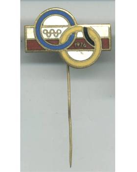 1976 Poland Olympic NOC pin GREAT & RARE