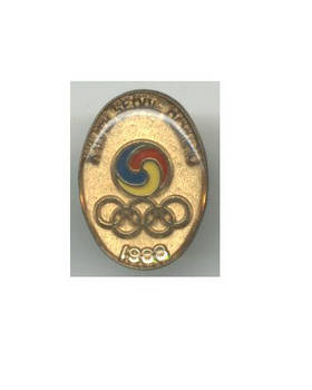 1988 Korea NOC Olympic pin badge NICE