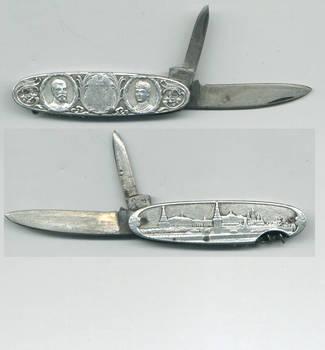 1892 Russia silver Royal pocket knife