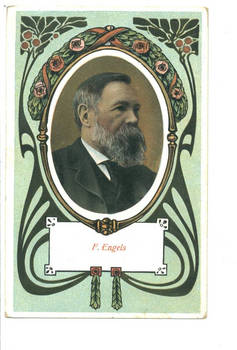 Vintage Germany communist Engels postcard RRR