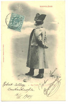1904 Turkey Britain NAPOLEON kid postcard N4