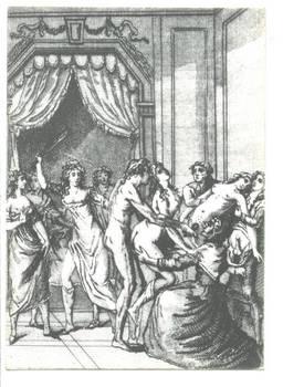 New Erotica BDSM antique gravure postcard 2