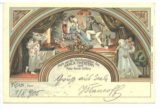 1905 Germany Koeln Scala Theater postcard RRR