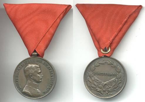 WWI Austria Carol BRAVERY medal bronze 3