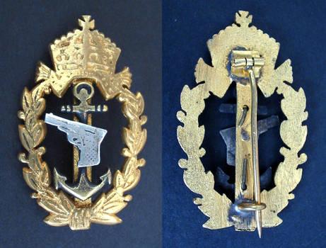 WWII Bulgaria NAVY pistol marksman badge RARE