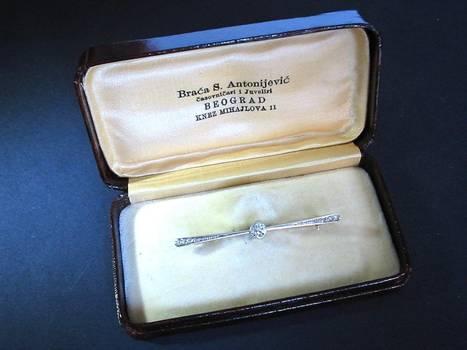 WWI Serbian Pilot Propeller diamond pin jewel