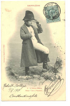 1904 Turkey Britain NAPOLEON kid postcard N8