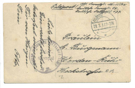 WWI Bulgaria LZ-101 ZEPPELIN unit cover 2 RRR