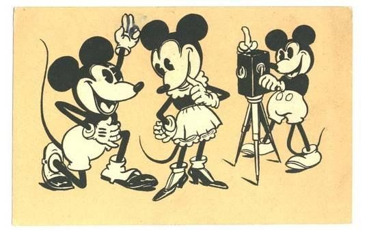 1932 Walt Disney Mickey movie postcard RARE