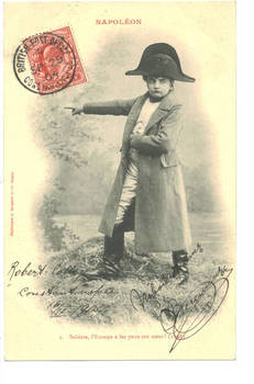 1904 Turkey Britain NAPOLEON kid postcard N3
