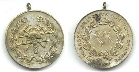 1900 Serbia Royal Firefighter Service medal R