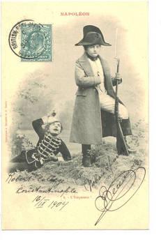 1904 Turkey Britain NAPOLEON kid postcard N2
