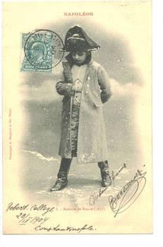 1904 Turkey Britain NAPOLEON kid postcard N6