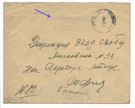 1948 Bulgaria Airmail UNIQUE cancel cover RRR