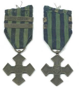 WWI Romania Royal War cross medal 2 bars RARE