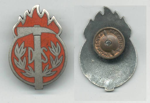WWII Serbia Royal Firefighter silver badge RR