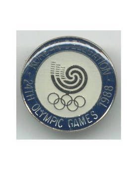 1988 Korea NOC Olympic official pin badge N2