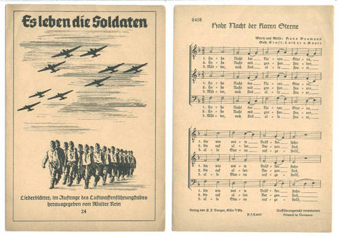 WWII NAZI Germany pilot hymn song music RARE