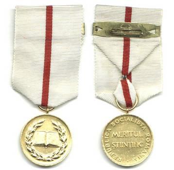 1980 Romania Science Merit Gold medal NICE