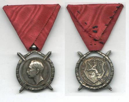 WWII Bulgaria Royal Merit SILVER order RR N4