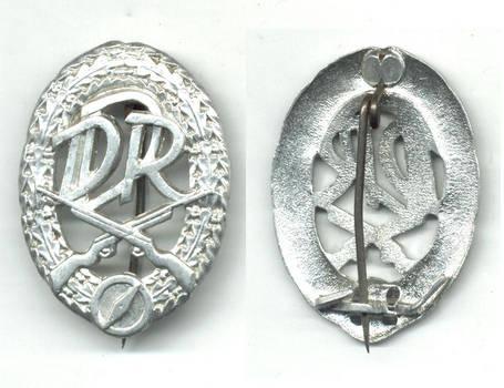 1970 Germany DDR Shooting rifle Club badge RR