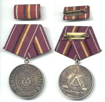 1980 Germany DDR Civil Merit Medal NICE