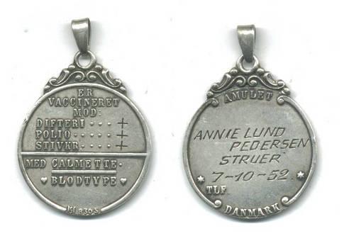 WWI Royal Denmark Silver NURSE badge tag RARE