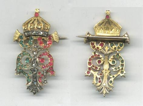 1886 Bulgaria Royal GOLD DIAMOND badge award