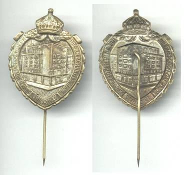 1937 Bulgaria Royal ARMY NCO club pin badge R