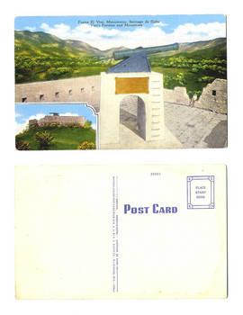 1950 US Cuba Viso fortress patriotic postcard