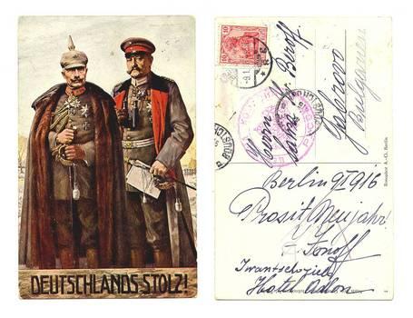 WWI Germany Austria Kings patriotic postcard