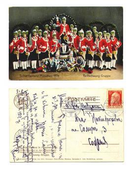 1914 Germany Beer Octoberfest dance postcard