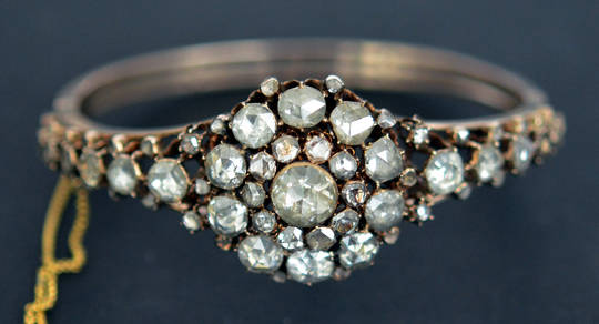 Antique Georgian Diamond Bangle Bracelet RARE