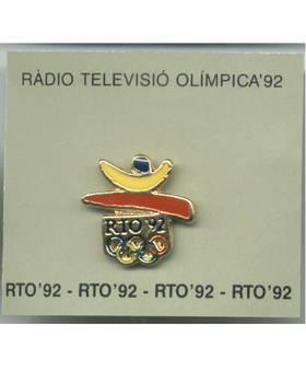 1992 Barcelona Spain Olympic TV media pin N2
