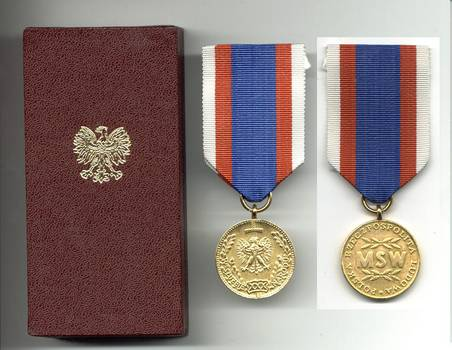 1974 Poland People Service Gold Police medal