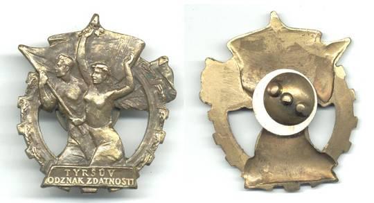 1950 Czechoslovakia Labor Merit order w. Case