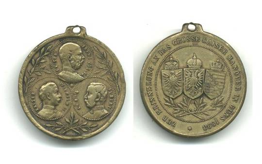 1893 Austria Royal Maneuvers Merit medal NICE
