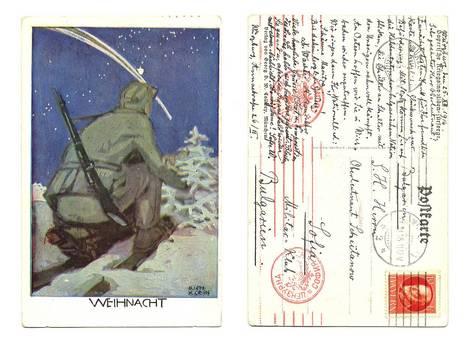 WWI Germany Artist signed patriotic postcard
