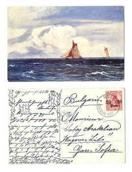 1913 German Beirut Yachts postcard NICE