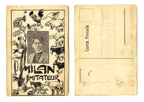 1920 Circus Romania Animal imitator postcard