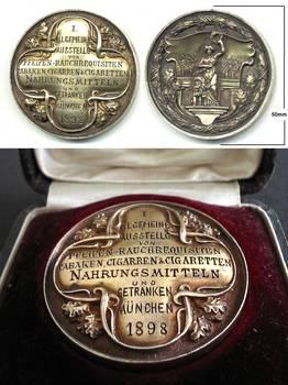 1898 Germany Munich Cigarette Liquor 1C MEDAL