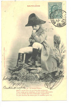 1904 Turkey Britain NAPOLEON kid postcard N9