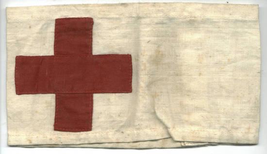 WWI Bulgaria Royal Red Cross arm band badge !