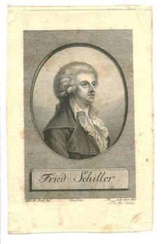 18c. Friedrich Schiller etching gravure print