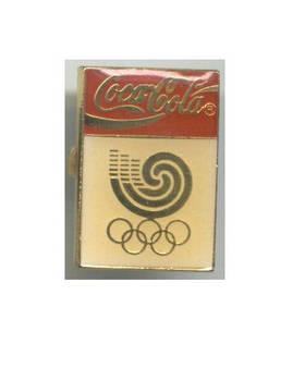 1988 Korea Olympic Sponsor pin Coca Cola NICE