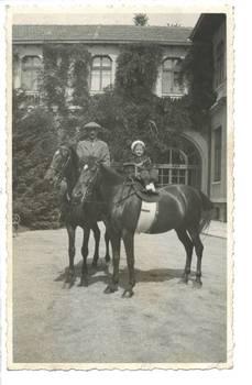Bulgaria Royalty King & horse photo postcard