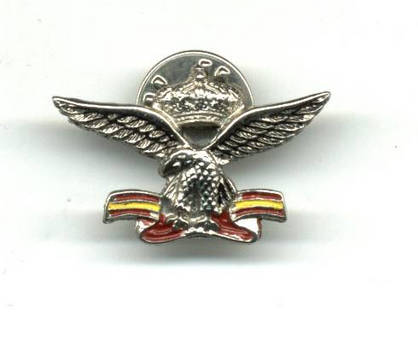 Modern Spain Royal pilot aviation pin badge !