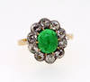 Old Victorian Colombian Emerald Cluster Ring