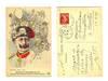 WWI France vs. Germany King & skull postcard