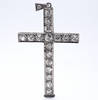 Fine Victorian Diamond Platinum Cross Pendant